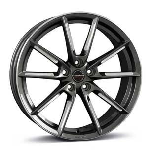 Borbet Wheel LX 8,5x19 ET37 5x108 19 Inch graphite spoke rim polished