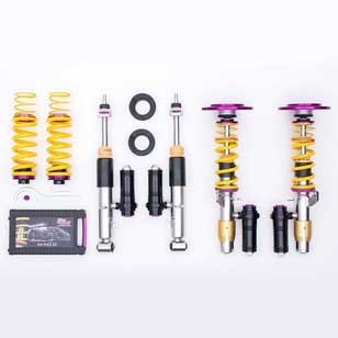 KW Coilover kit Clubsport 2-way incl. FA top mounts 3528080H for VW Golf