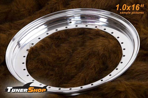 BBS Outer Lip 1.0x16 Aluminium 34-holes wheel half