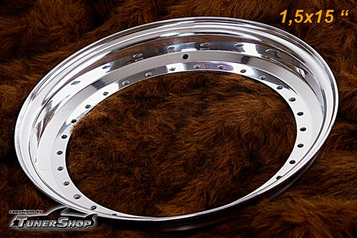 BBS Outer Lip 1.5x15 Aluminium 30-holes wheel half