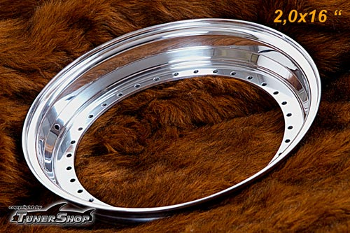 BBS Outer Lip 2.0x16 Aluminium 34-holes wheel half