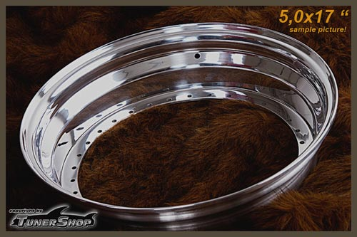 BBS Outer Lip 5.0x17 Aluminium 34-holes wheel half