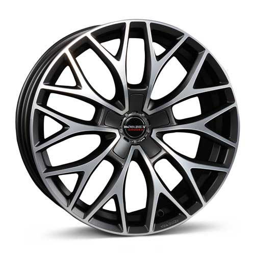 Borbet Wheel DY 8,0x18 ET38 5x115 18 Inch dark grey polished matt