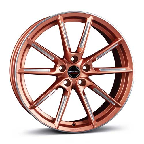 Borbet Wheel LX 8,0x19 ET45 5x108 19 Inch copper matt spoke rim polished