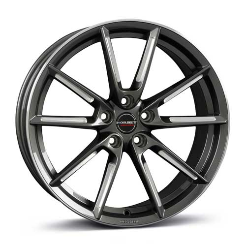 Borbet Wheel LX 8,5x19 ET40 5x112 19 Inch graphite spoke rim polished