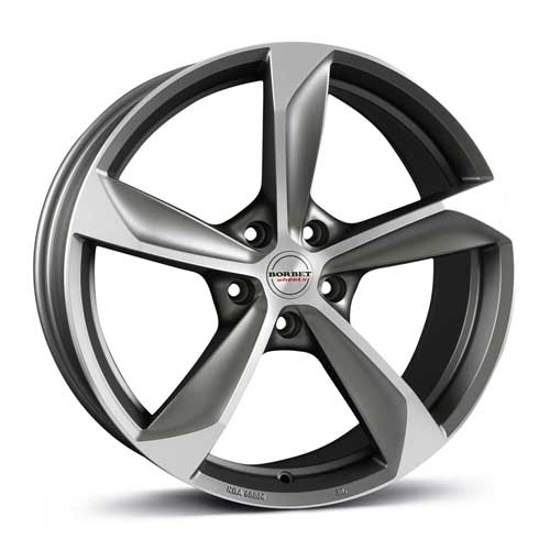 Borbet Wheel S 8,5x19 ET45 5x108 19 Inch graphite polished matt