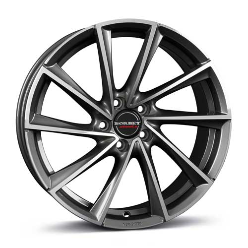 Borbet Wheel VTX 8,5x19 ET47 5x112 19 Inch graphite polished