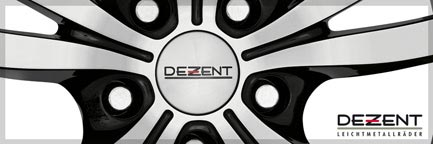 dezent tc dark 7 0x17 et40 5x114 3 for toyota nissan mazda. Black Bedroom Furniture Sets. Home Design Ideas